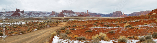 Valley of Gods panorama in winter