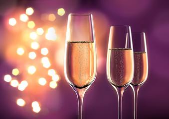 3 Champagnergläser