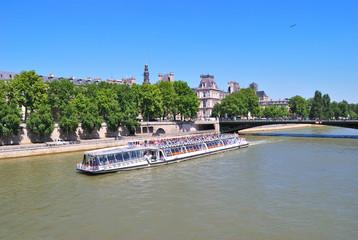 Paris. River Seine in a sunny summer day