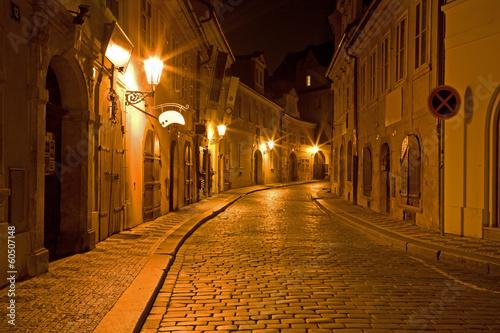 Prague - night aisle in Little quarter - 60507148