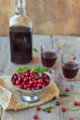 Cranberries and red wine