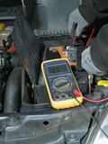 Car battery voltage checking