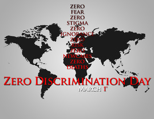 Graphic design Zero Discrimination Day related.