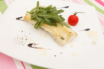 Cannelloni with pork and  ricotta cheese