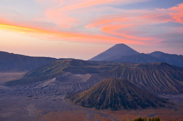 Bromo volcano at sunrise,Tengger Semeru National Park, East Java