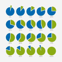 Set of circle diagram, infographic design