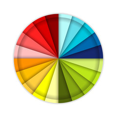 Palette of color wheel, for your design