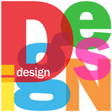 """DESIGN"" Letter Collage (graphics architecture art creation)"