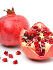 Ripe pomegranate fruit
