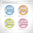 Abstract infographics elements. Modern design template