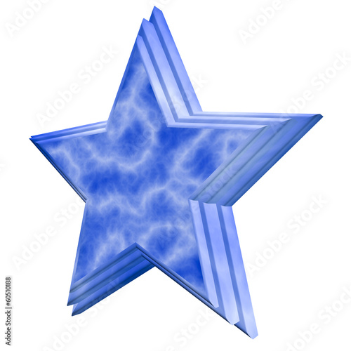 Blue star with stepped face