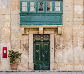 Facade of Maltese house