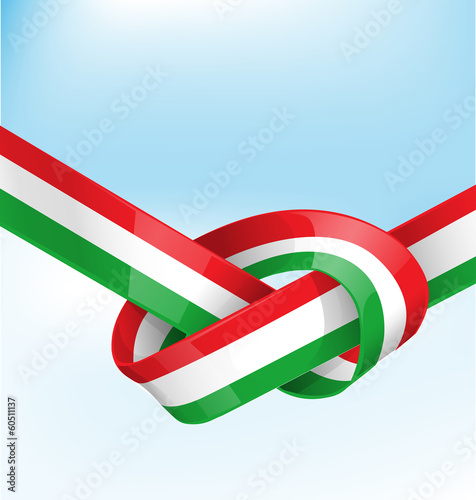 italian ribbon  flag on background