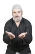 Hombre musulmán rezando sus oraciones