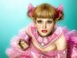Girl in Lolita Style Dress 3d CG