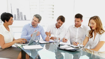 Business team discussing during meeting
