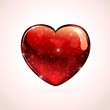 Red shiny valentines heart