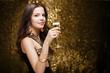 Cool elegant festive woman.