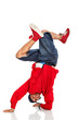 Breakdancer stand on arms