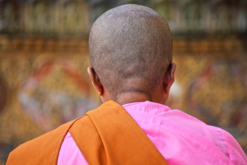 Buddhist nun praying