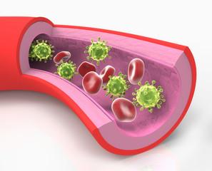 Globulos con Virus