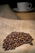 Coffee Beans with Cup