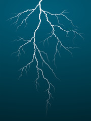 Thunderbolt with a flash of forked lightning