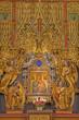 Vienna - gothic polychrome side altar in Maria am Gestade