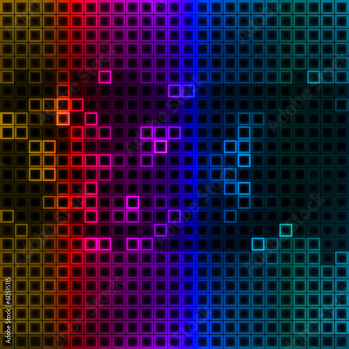 Abstract colorful squares, technology concept background.