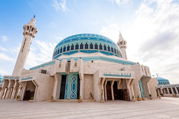 King Abdullah I Mosque in Amman, Jordan.
