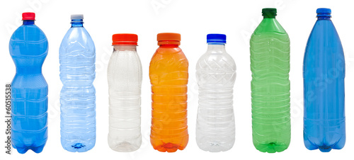 canvas print picture Plastic bottles