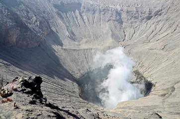 Crater of Bromo vocalno, East Java, Indonesia