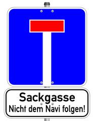 Sackgasse Navi Schild  #140120-svg07