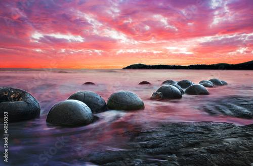 Keuken foto achterwand Nieuw Zeeland Moeraki boulders