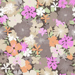 Pretty flower print ~ seamless background