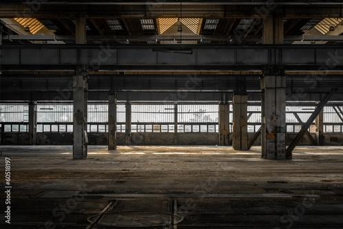 Fotobehang Industrial geb. Large industrial hall of a repair station