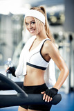Fototapety Fitness on a treadmill
