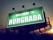 Billboard Welcome to Hurghada at Sunrise.