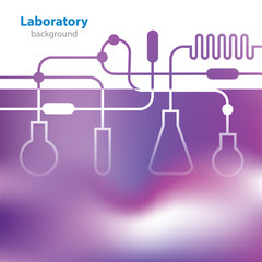 Abstract purple medical laboratory background.