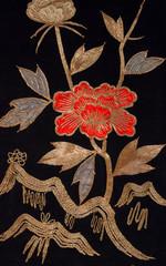 Decorative kimono floral