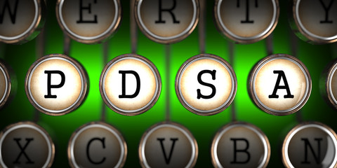 PDSA on Old Typewriter's Keys.