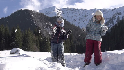 Winter Vacation. Slow Motion at a rate of 240 fps
