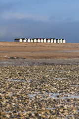 Row of Beach Huts Goring beach West Sussex