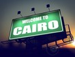 Billboard Welcome to Cairo at Sunrise.