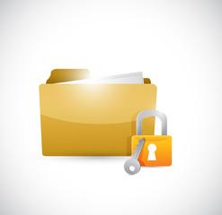 secure lock illustration design