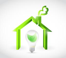 eco energy home illustration design
