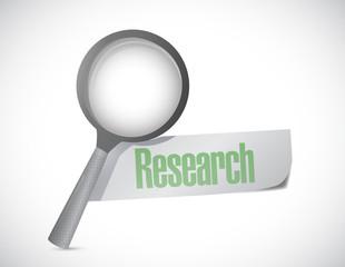 magnify research sign illustration design