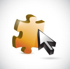 puzzle piece cursor illustration design
