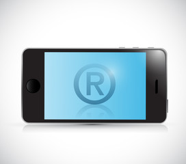 registered phone illustration