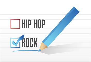 rock over hip hop illustration design